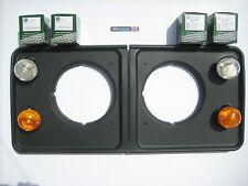 Land Rover Defender 90, 110, 130 Front Side Light Set & Indicators and Surrounds