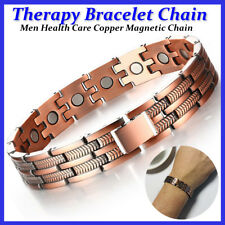 Men Healthy Copper Magnetic Therapy Bracelet Arthritic Pain Relief Carpal Tunnel
