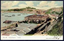 946 Chile Talcahuano Railway Station Undivided Postcard
