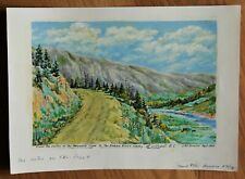 Vintage Landscape Study Painting By J.R. Armer - Fraser Valley, B.C.- Circa 1965