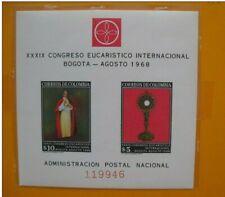 timbres COLOMBIE : bloc n° 29 congrès eucharistique international BOGOTA 1968 **