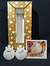 """New ListingVintage 1997 Margaret Furlong Set Of (2) 1 5/8"""" Angels Tea For Two With Easels"""