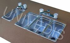 CONCESSION Sink  STAND three 3 COMPARTMENT (attached) W/ HAND SINK NEW
