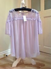 womens Sheer Lilac Blouse Size 20