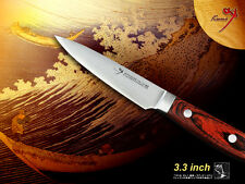 "Japanese Vg10 Steel Fruit Paring Knife 3.3"" Chef's Kitchenware Classic"