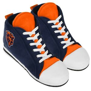 Chicago Bears High Top Sneaker SLIPPERS New - FREE U.S.A. SHIPPING