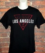 MENS GUESS LOS ANGELES BLACK T-SHIRT SIZE L