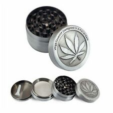 1pc 4-layer Herb Grinder Spice Tobacco/weed Smoke Zinc Alloy Crusher Leaf Design