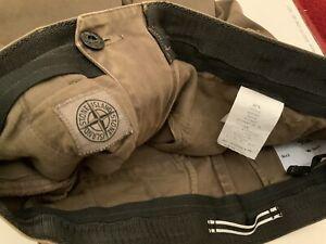 Stone Island SL Mens Stretch Slim Cotton Trousers Olive 32 X 33 RRP £275. ....