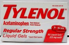 Tylenol Regular Strength 325mg, 90ct Liquid Gels -Expiration Date 07-2020-