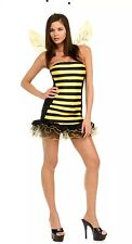 NEW! Secret Wishes Busy Bee Adult Womens Costume Yellow Black Dress Small S