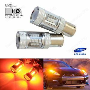 2 Ampoule  15 LED Culot PY21W BAU15s Clignotant Feu de Recul Lampe Orange