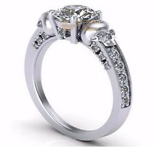2.00 CT White Round Diamond Solid 925 Sterling Silver Wedding/Engagement Ring