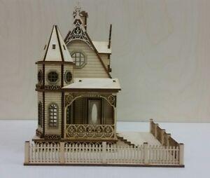 Jasmine Gothic Victorian Cottage Dollhouse 1:48 scale