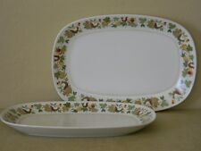 """Set of 2 Noritake Serving Platters  """"Homecoming"""" by Progression"""