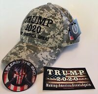 Trump Tactical Hunting Cap ..2020 ..Keep America Great .. MAGA ..Camo + 2 Decals