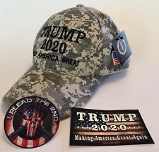 NRA.. 2nd Amendment..Trump Hat ..2020 ..Keep America Great ..Camo + 2 Decals