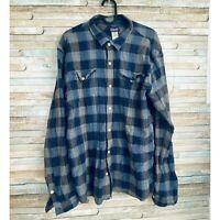Patagonia Mens Large Long Sleeve Organic Cotton Shirt Button Down Flannel EUC