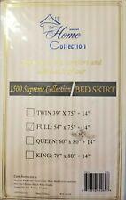 Sweet Home 1500 Supreme Bed Skirt Dust Ruffle Full Bed Washable Comfort Aqua