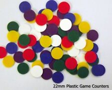 250 x 22mm Mixed Board Games Counters - Learning / Tokens / Cheap / Low Price