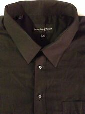Beverly Hills Polo Club Men`s 20 Black Button down Dress shirt W/Pocket