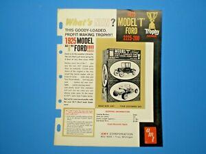 """AMT Original 1964 dealer Flyer double kit """" 1925 Model T Ford """" Trophy Series"""
