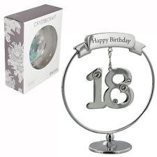 Crystocraft Felice 18th COMPLEANNO CAKE TOPPER/Regalo-Numero & Swarovski