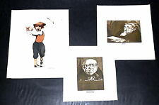(3) Charles Bragg  Lithographs from Etchings
