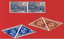 Ecuador MVFNH OG  Unissued Columbian Airmail Overprint Pairs  Free S/H