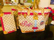 PORTOFINO BAG + Pochette Louis Vuitton Summer Trunks Damier Neverfull Tote NEW
