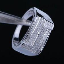 Sterling Silver Generous Natural SI/H Diamond Man Fashion Jewelry Wedding Ring