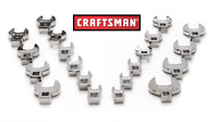 NEW Craftsman 10 pc Crowfoot Wrench Set SAE Inch or MM Metric  FREE SHIPING