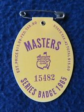 Vintage 1965 Augusta National Masters Golf Tournament Badge Won By Jack Nicklaus