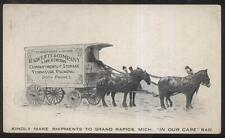 Postcard GRAND RAPIDS MI  Radcliffe Moving Co Horse Drawn Wagon Promo 1913