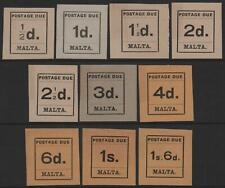 MALTA-1925 Postage Due Set Sg D1-D10 MOUNTED MINT V39934