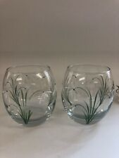 Individually hand painted Snowdrop tumblers