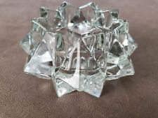 Avon Candleholder#27  Votive Tea Light Vintage Star Prism. 4""