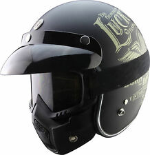 TORC T14 T50 T27 T55 V136 1/2 3/4 Open Face Motorcycle Helmet Mask Goggles Combo