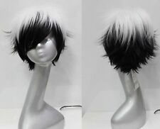 Black and white style short paragraph Cosplay wig Party wig + wigs cap