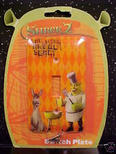 *SHREK 2*LIGHT SWITCH PLATE*COVER*EAT, STINK & BE SCARY*METAL*NEW IN PACKAGE*
