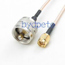PL259 PL-259 UHF male to SMA male plug RF Pigtail Caox Cable 100cm 3feet RG316
