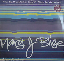 "MARY J BLIGE ~ My Love / Reminisce ~ 12"" Single PS"