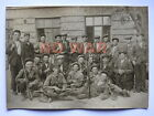 WWII ORIGINAL SOVIET WAR LARGE PHOTO GROUP PARTISANS W WEAPON ARMS KHARKIV 1941