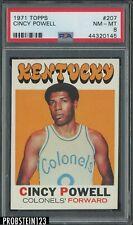 1971 Topps Basketball #207 Cincy Powell Kentucky Colonels PSA 8 NM-MT