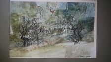 Frederick Donald Blake RS RSMA . Original Oil and mixed medium on Card. Signed