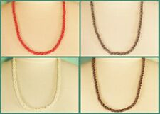 """12 PCS  22"""" Handmade Beaded Rope Chain Necklace WHOLESALE LOT 4 Colors"""