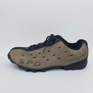 Shimano SH-MT22 Size 40 EUR Brown Suede SPD Mountain Touring Cycling Shoes