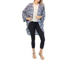 3/4 Sleeve Geometric Regular Size Tops for Women