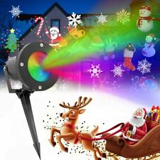 Christmas Projector Lamp LED Rotating Snowflake Laser Light Party Decor, Outdoor