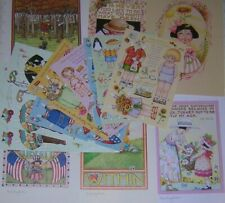 *Lot -14 Vintage Mary Engelbreit Collectables - 8 paperdolls & 6 frameables